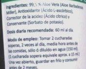 etiqueta aloe vera